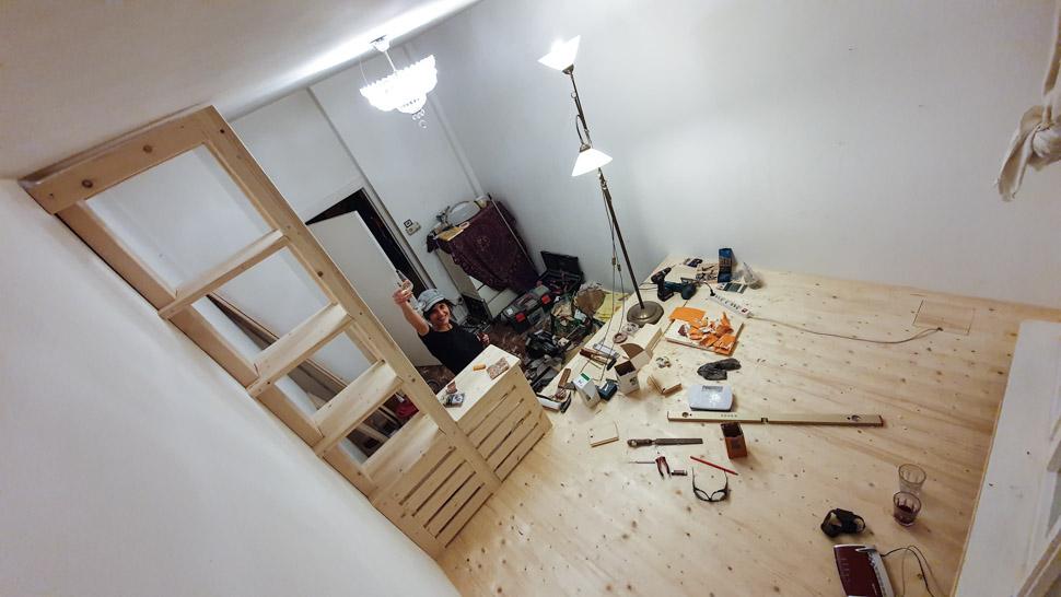 Wohnzimmer Podest
